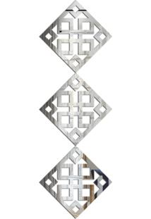 Espelho Love Decor Decorativo Kit Ladrilho Quadrado Único - Kanui