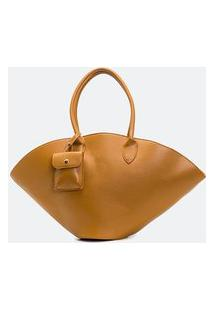 Bolsa Shopper Lisa Satinato | Satinato | Marrom | U