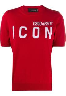 Dsquared2 Blusa Icon De Tricô - Vermelho