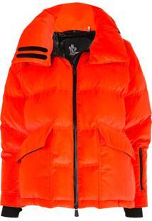 Moncler Grenoble Oversized Puffer Jacket - Laranja