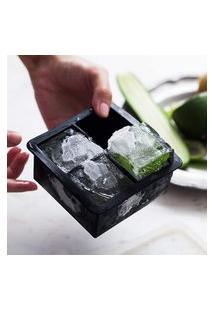 Forma De Gelo Com Tampa Power Cube Cinza