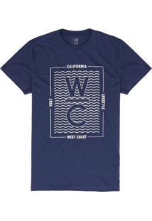 Camiseta West Coast Wc California Life Style Waves Mirtilo