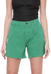 Bermuda Sarja My Favorite Thing(S) Reta Color Verde