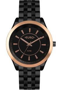 Relógio Euro Feminino Color Slim - Eu2035Yow/4P Eu2035Yow/4P - Feminino-Preto