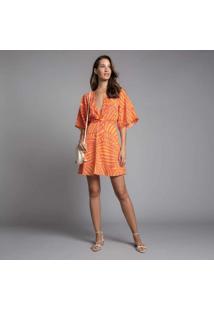Vestido Com Cinto Estampa Shell - Lez A Lez