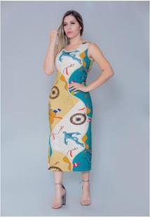 Vestido Imagivan Midi Feminino - Feminino