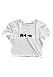 Blusa Blusinha Feminina Cropped Tshirt Camiseta Bebesita Branco