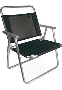 Cadeira Oversize Alumínio Preta Mor