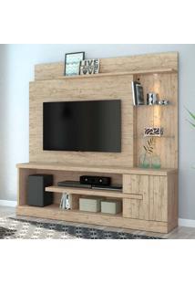 Estante Para Home Theater E Tv 55 Polegadas Alan Rustico 181 Cm