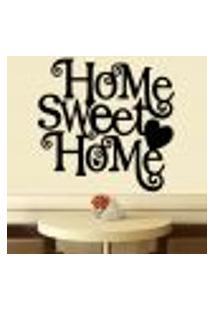 Adesivo De Parede Frase Home Sweet Home - M 61X60Cm