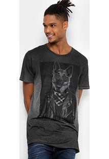 Camiseta Colcci Oversized Estampada Masculina - Masculino-Mescla
