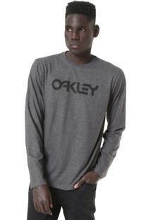 Camiseta Oakley Mark Ii Ls Cinza