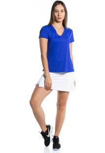 Camiseta Manga Curta Pinyx Gola V Azul