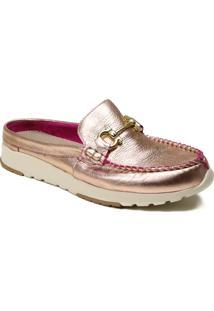 Sapato Feminino Mule Zariff Metalizado