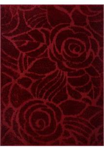 Tapete Jazz Floral- Vermelho- 200X150Cm- Oasisoasis