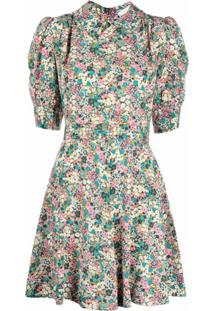 See By Chloé Vestido De Seda Com Estampa Floral - Verde