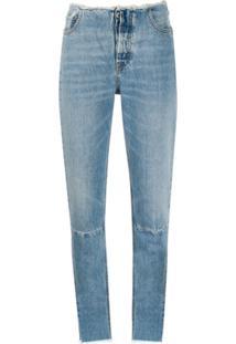 Unravel Project Calça Jeans Skinny Com Detalhe Desfiado - Azul
