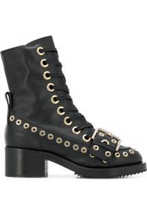 Nº21 Ankle Boot De Couro - Preto