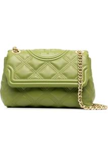 Tory Burch Fleming Quilted Shoulder Bag - Verde