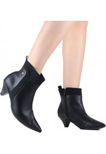 Bota Ankle Boot Piccadilly Bico Fino