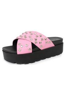 Sandáliatratorada Spikes Damannu Shoes Amanda Napa Rosa