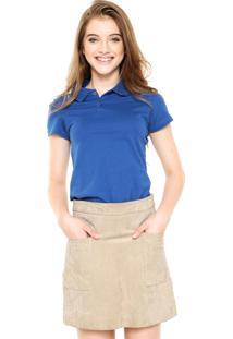 Camisa Polo Malwee Lisa Azul