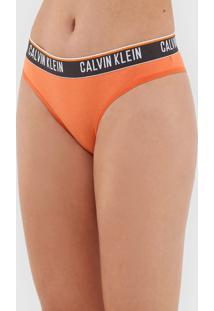 Calcinha Calvin Klein Underwear BiquãNi Logo Laranja - Laranja - Feminino - Algodã£O - Dafiti