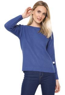 Suéter Mercatto Tricot Basic Azul