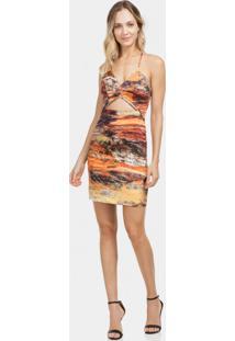 Vestido Com Alças Tecido Estampado Glencoe - Lez A Lez