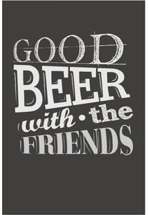 "Placa Decorativa ""Good Beer""- Preta & Branca- 20X30Ckapos"
