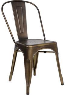 Cadeira Tolix Sem Braços - Cor Bronze