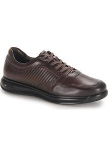 Sapato Conforto Masculino Jota Pe Walker - Cafe