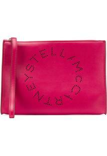 Stella Mccartney Clutch Stella Com Logo - Rosa