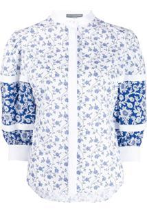 Alexander Mcqueen Blusa Com Estampa Floral - Branco