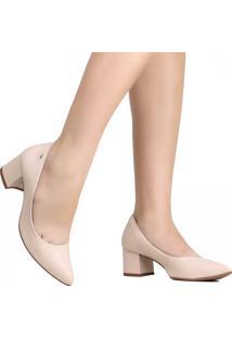 Sapato Scarpin Dakota Em Couro Nude