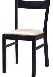 Cadeira Savannah Fixa Carvalho Preto Com Fendi - 23000 Sun House