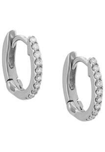 Dana Rebecca Designs Par De Brincos Em Ouro Branco 14K Com Diamante - Prateado