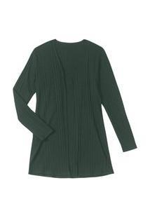 Cardigan Feminino Canelado Rovitex Verde