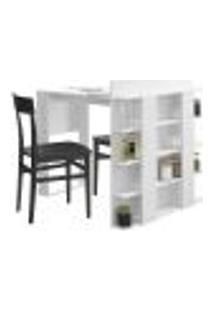 Mesa De Cozinha Com Prateleiras Smart 1002 Branca