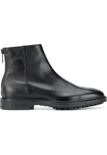 Paul Smith Ankle Boot Fleming Com Zíper - Preto