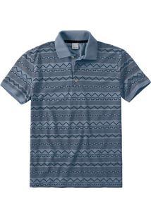 Camisa Polo Slim Geométrica Malwee