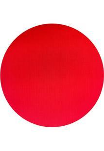 Jogo Americano Textilene 45X30Cm Circle Vermelho