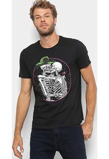 Camiseta Manga Curta Ellus 2Nd Floor Caveiras Masculina - Masculino