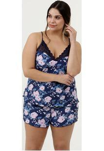 Pijama Feminino Liganete Plus Size Demillus