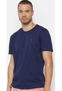 Camiseta Aleatory Básica Masculina - Masculino-Marinho