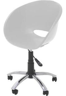 Cadeira Elena Com Rodizio Cor Branco - 21708 - Sun House
