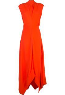 Proenza Schouler Vestido Com Gola Alta Ampla - Vermelho