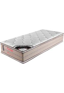 Colchão Solteiro 188X088X32 Ouro Pillow Top Duplo -Prorelax - Bege