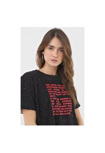 Camiseta Dupla Face Forum Botonê Preta/Off-White