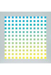 Quadro 65890 Abstrato 33X33 Cm Branco